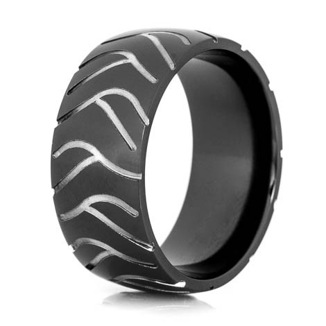 Men's Black Super Cycle Motorcycle Ring