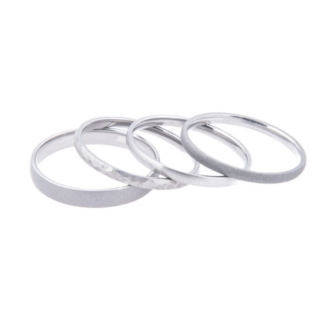 Stackable Titanium Rings, Set of Three