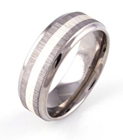 Sterling Silver Stripe Textured Ring