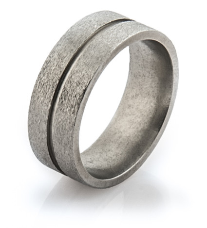 Flat Profile Stone Finish Ring