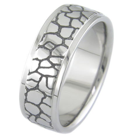 Straight and Narrow Path Titanium Ring