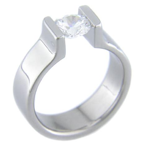 Women's Titanium Tension Set Ring
