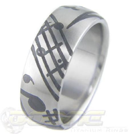 Titanium Music Ring