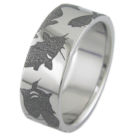 Titanium Catfish Ring