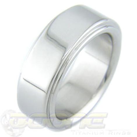 Titanium Ring with Flat Edgebands