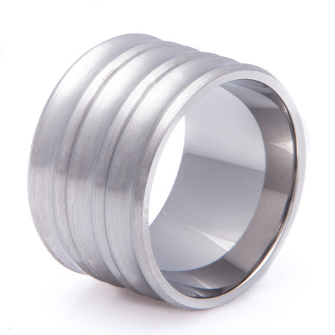 Super Wide Titanium Concave Ring