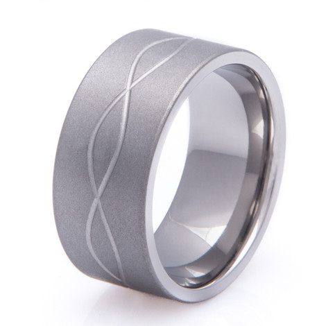 Titanium Sandblasted Infinity Ring