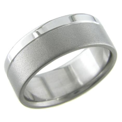 Titanium Ring with Satin and Polish