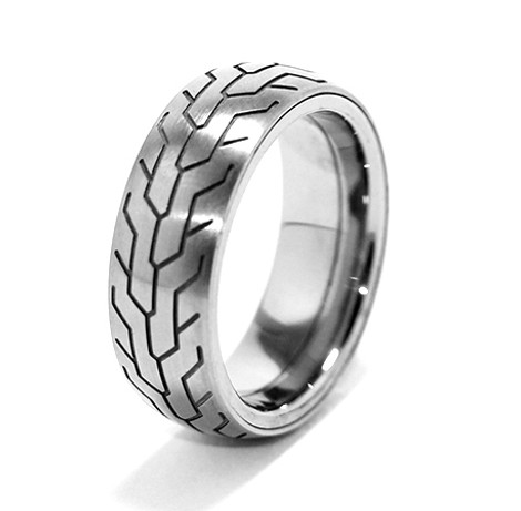 Men's Titanium Motorcycle Spinner Ring