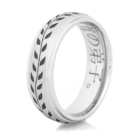 Cobalt Chrome Vine Ring