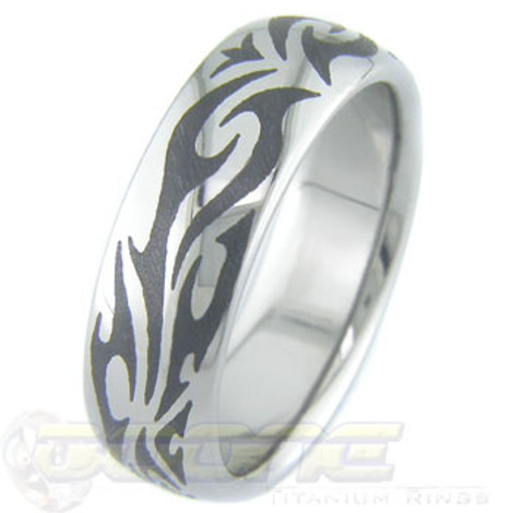 Titanium Tribal Ring