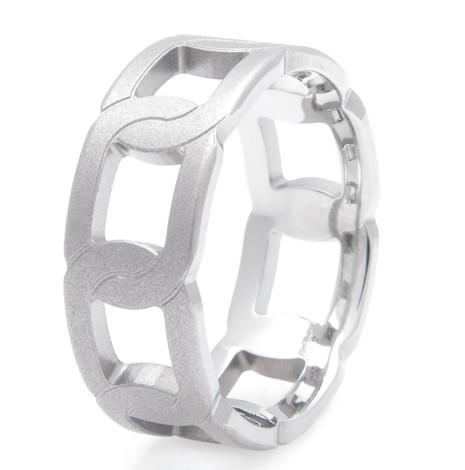 Men's Titanium Tow Chain Ring