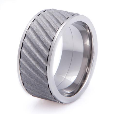 Men's Wide Titanium Helix Spinner Ring