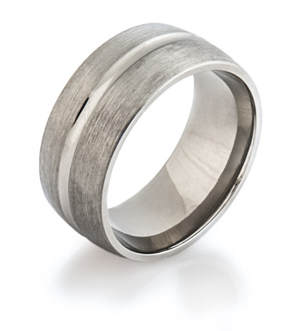 Wide Titanium Band width polished channel