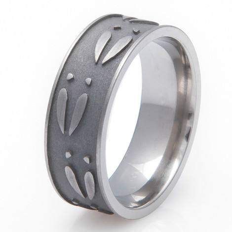 Men's Titanium Ultimate Deer Track Ring