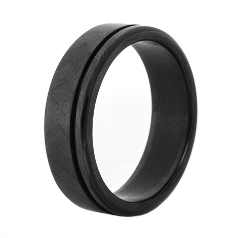 Men's Double Deluxe Carbon Fiber Ring