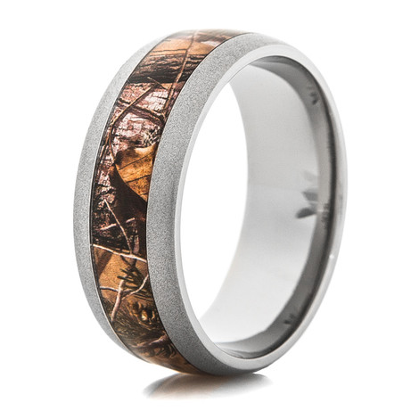 Men's Titanium Beadblasted Realtree® APG Camo Ring
