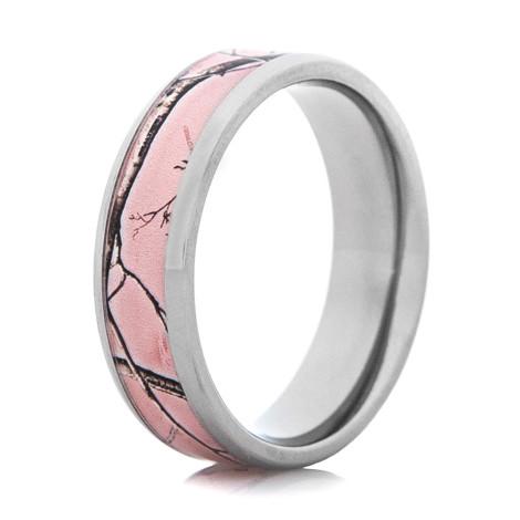 Women's Realtree® AP Pink Beveled Edge Camo Ring