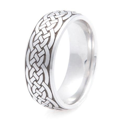 Traditional Cobalt Celtic Braid Ring