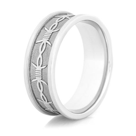Men's Cobalt Barb Wire Ring