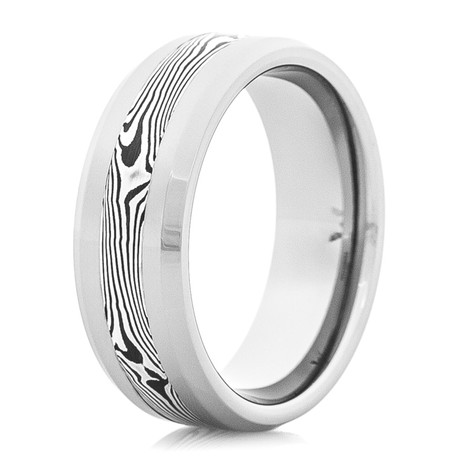 Men's Tungsten Carbide Shakudo Wedding Ring