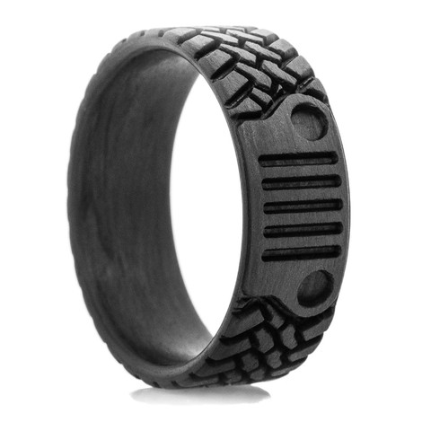 Off Road Inspired Tread & Grill Carbon Fiber Ring