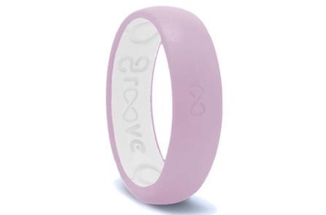 Lavender Groove Original Narrow Silicone Ring