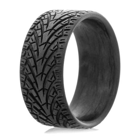 Men's Carbon Fiber City Style Tread Ring