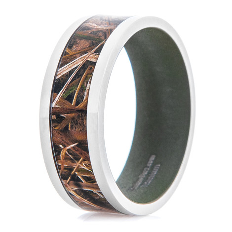 Men's Mossy Oak Blades Camo Ring with Sniper Green Interior