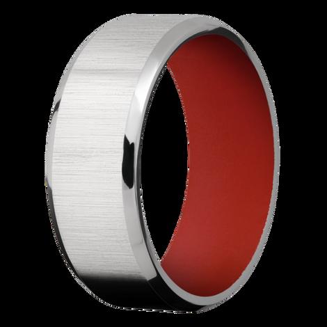 Men's Customizable Beveled Edge Titanium Ring