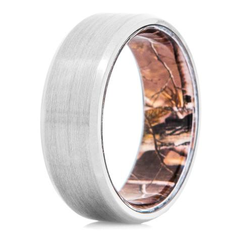Men's Titanium Ring with Camo Interior