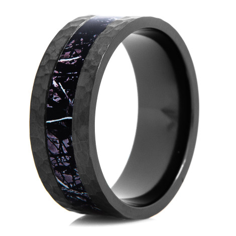 Men's Hammered Black Sirphis® Harvest Moon Camo Ring 9mm Width