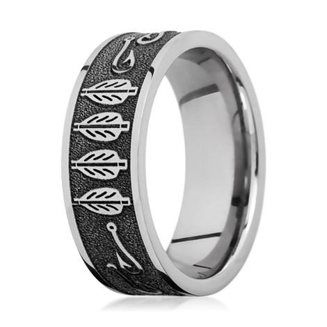 Men's Fletching & Fish Hook Ring