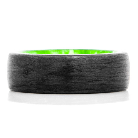 Green Slime Carbon Fiber RIng