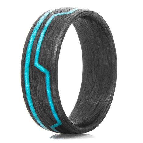 Men's Carbon Fiber Light Cycle Glow Ring