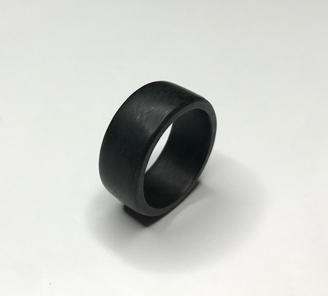 Men's Sidecut Carbon Fiber Ring, Size 8