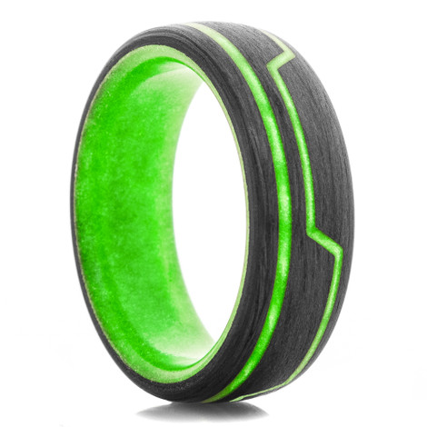 Carbon Fiber Glow Core Light Cycle Ring 2.0