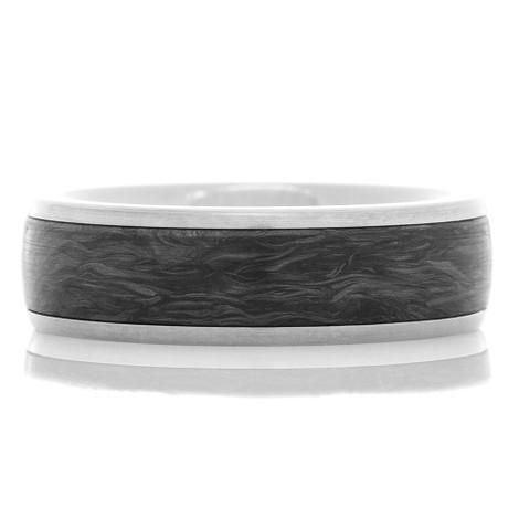 Forged Carbon Fiber Titanium Ring
