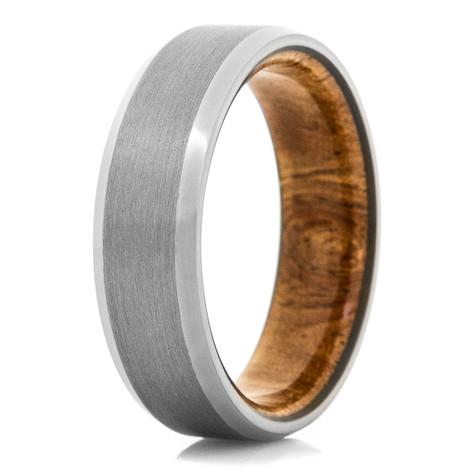 Men's Tantalum And Hardwood Sleeve Ring