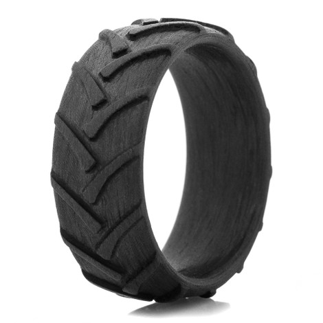 Men's Carbon Fiber Tractor Ring