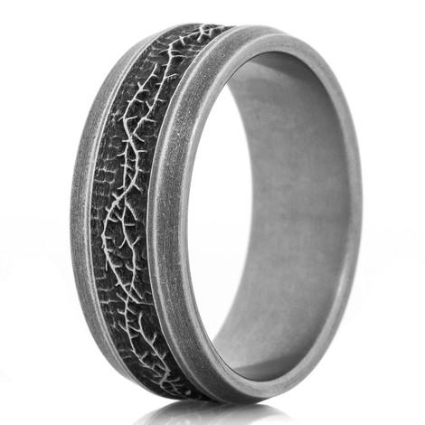 Men's Titanium Crown of Thorns Ring