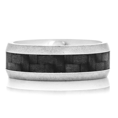 Gun Metal Carbon Fiber Ring
