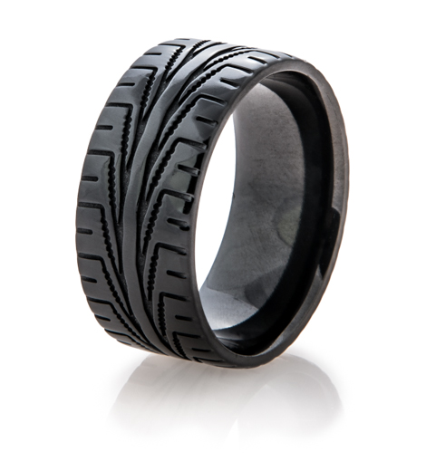 Men's Black Goodyear Assurance CSTTAS Tire Tread Ring