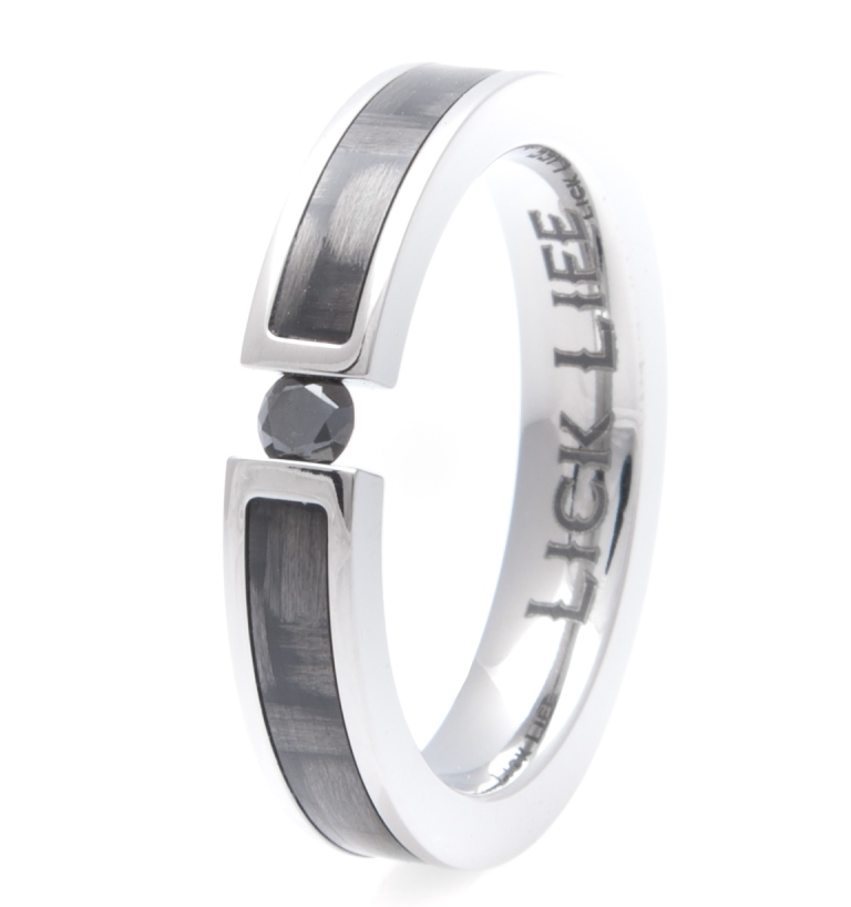 Women's Titanium Lady Luck Ring