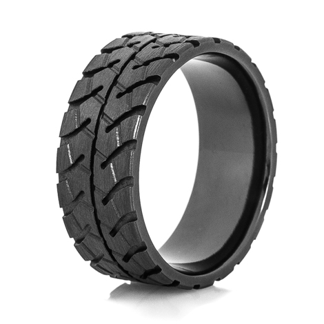 Men's Black Goodyear RM4B OTR Tire Tread Ring