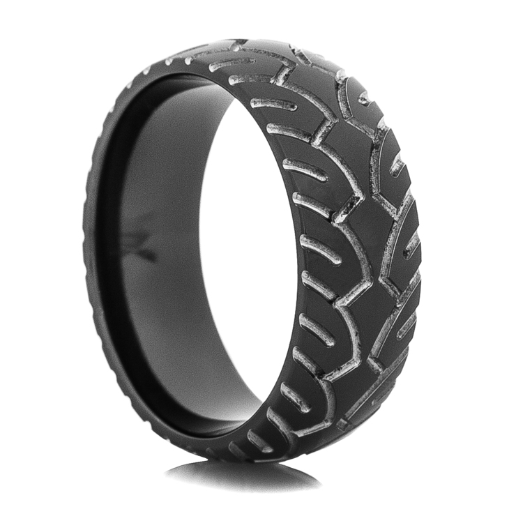 Men's Black Motorcycle Ring