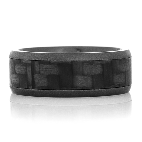 Carbon Fiber & Black Zirconium Ring