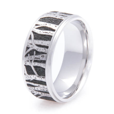 The Men's Cobalt Aspen Tree Line Ring