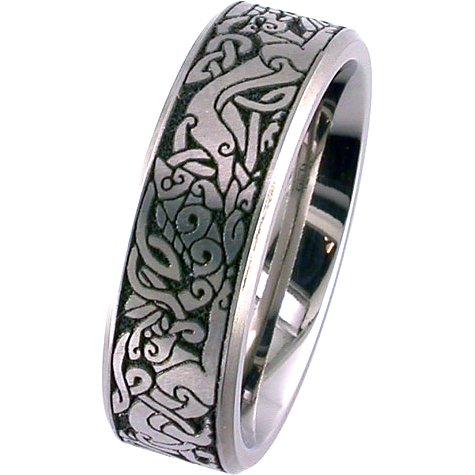 Laser Engraved Celtic Band Ring