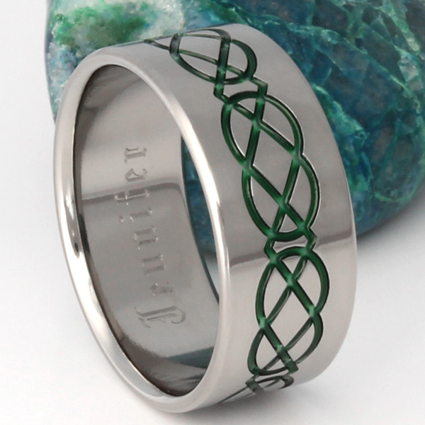 Titanium Irish Knot Ring